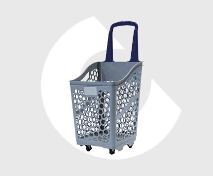B65-Cesta supermercado plastico-Carttec