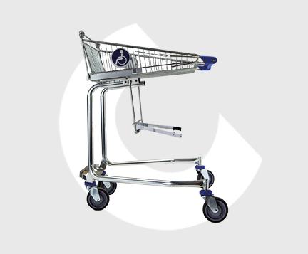 I100-Handi-Carro de supermercado para minusvalidos-Carttec