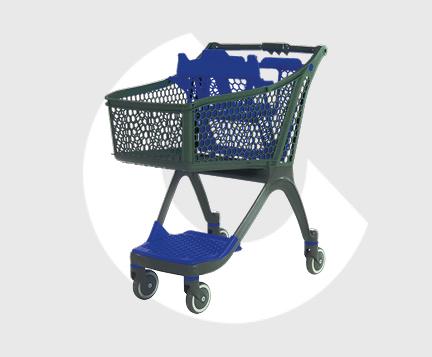 P100-Carro supermercado plastico-Carttec