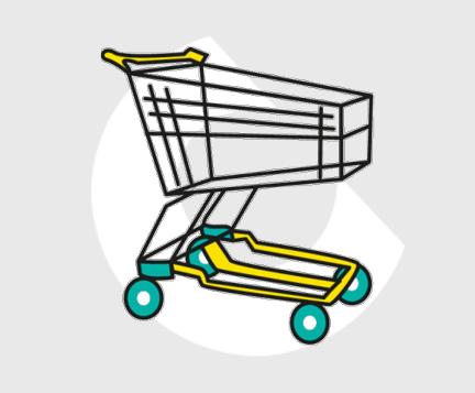 carro de metal para supermercado-Carttec