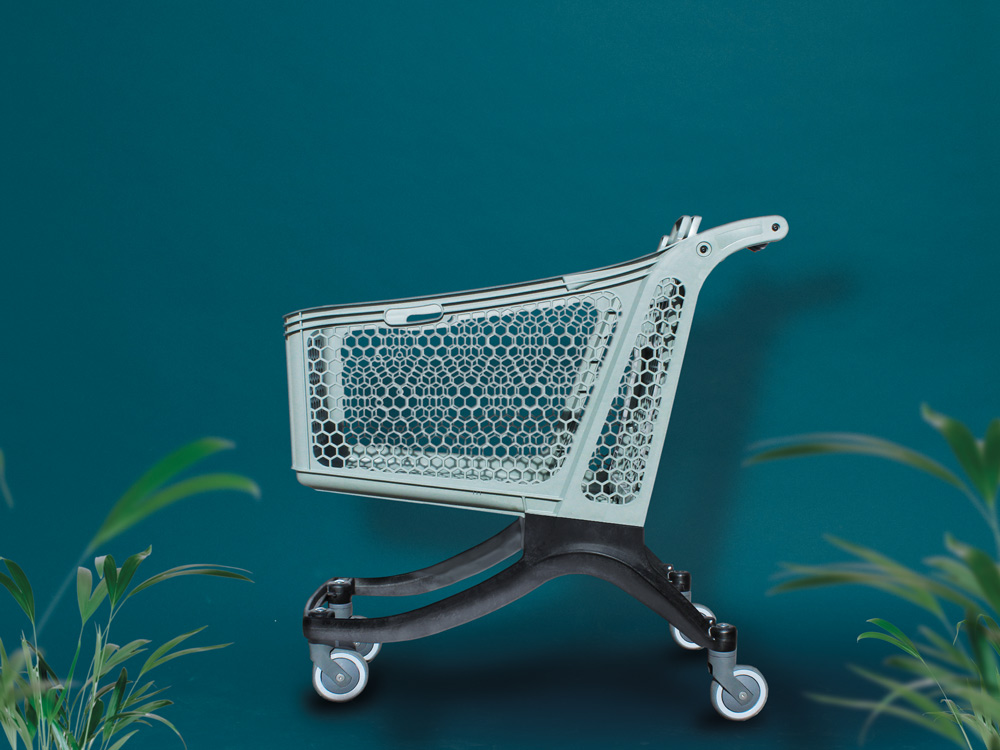 Carttec presents ECOCART E-180, the new eco-friendly supermarket trolley