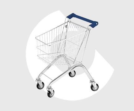Carro de supermercado de metal infantil-Carttec