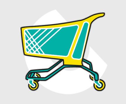 Carro supermercado plastico-Carttec