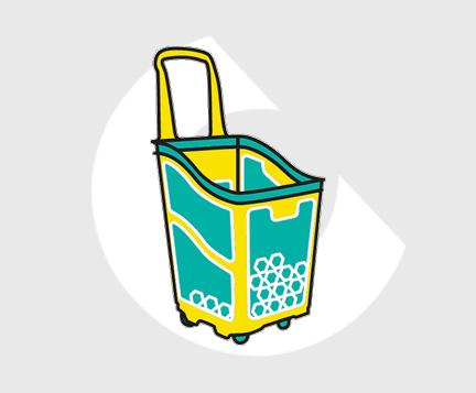 Cesta supermercado plastico-Carttec