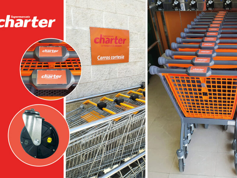 Charter Castellnou prevents the theft of its supermarket trolleys