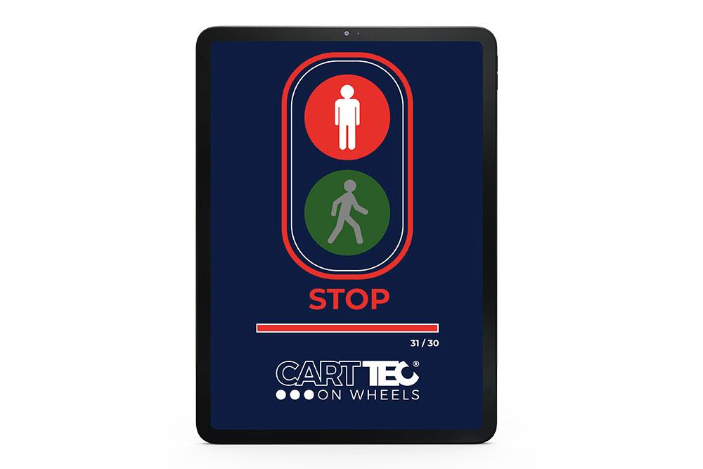 semaforo rojo control de aforo Carttec